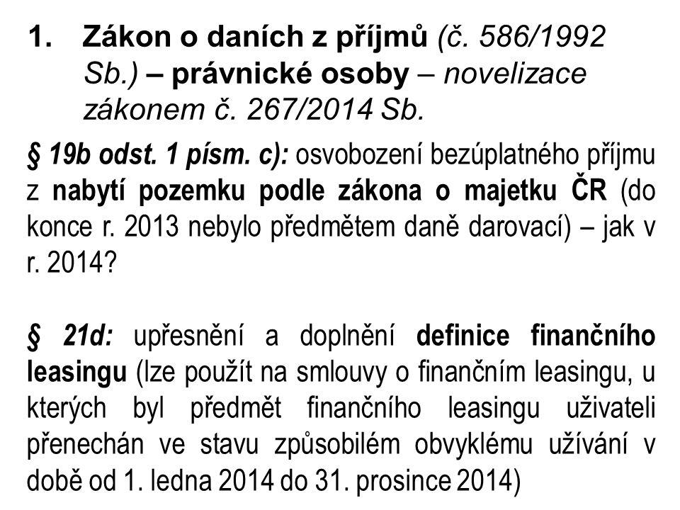 Zákon o daních z příjmů (č. 586/1992 Sb
