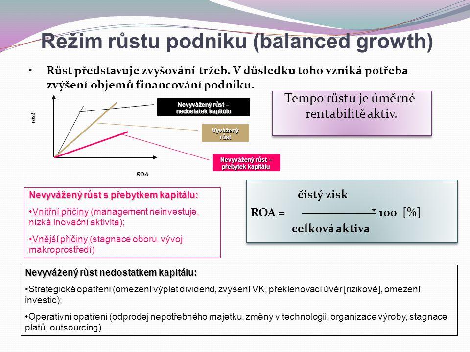 Režim růstu podniku (balanced growth)