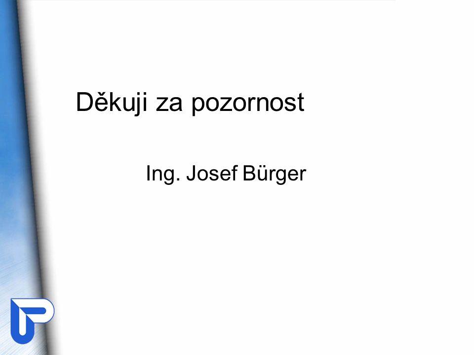 Děkuji za pozornost Ing. Josef Bürger