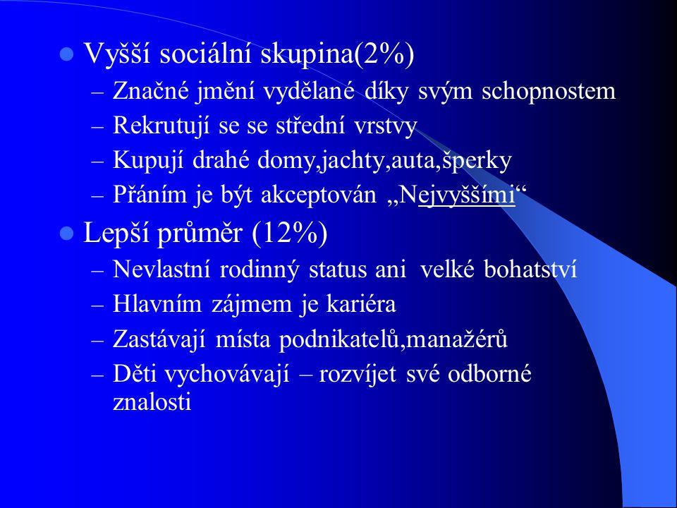 Vyšší sociální skupina(2%)