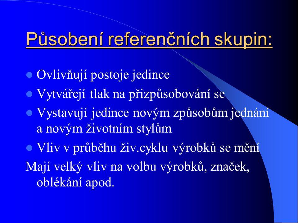 Působení referenčních skupin: