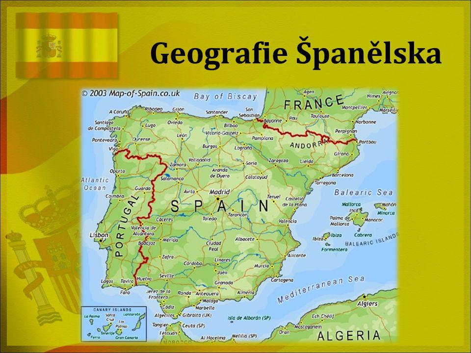 Geografie Španělska Slouží spíše jako úvodní slide.