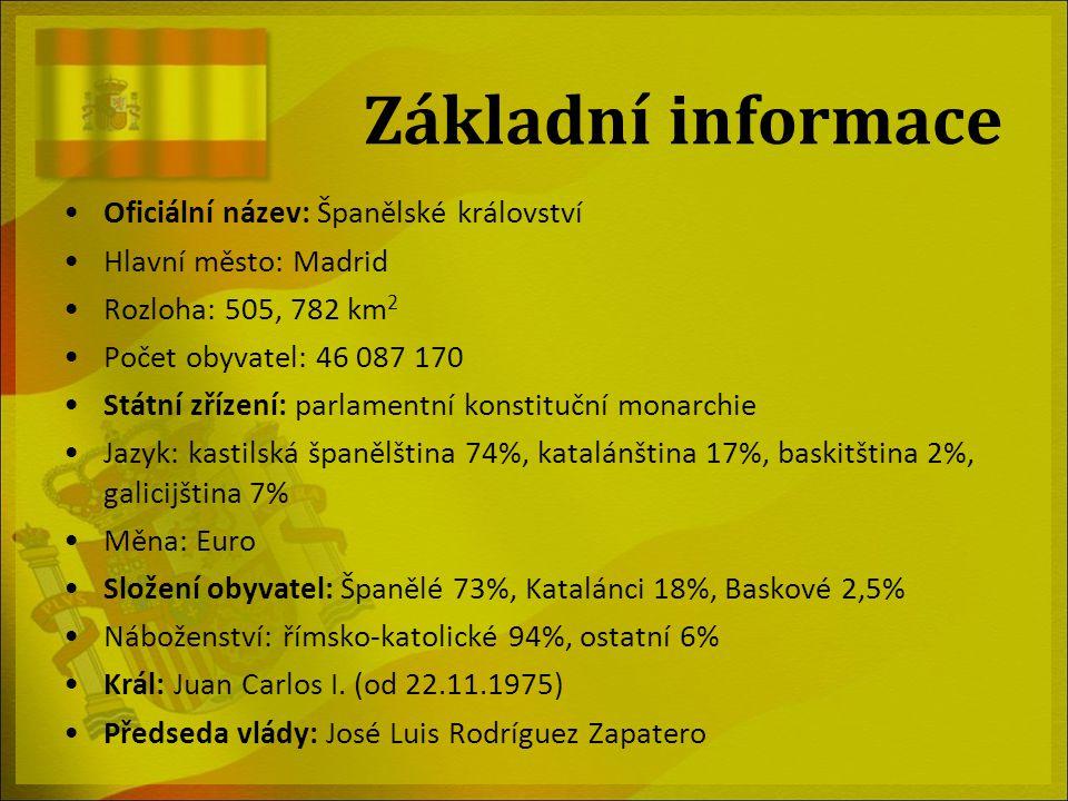 Základní informace Oficiální název: Španělské království