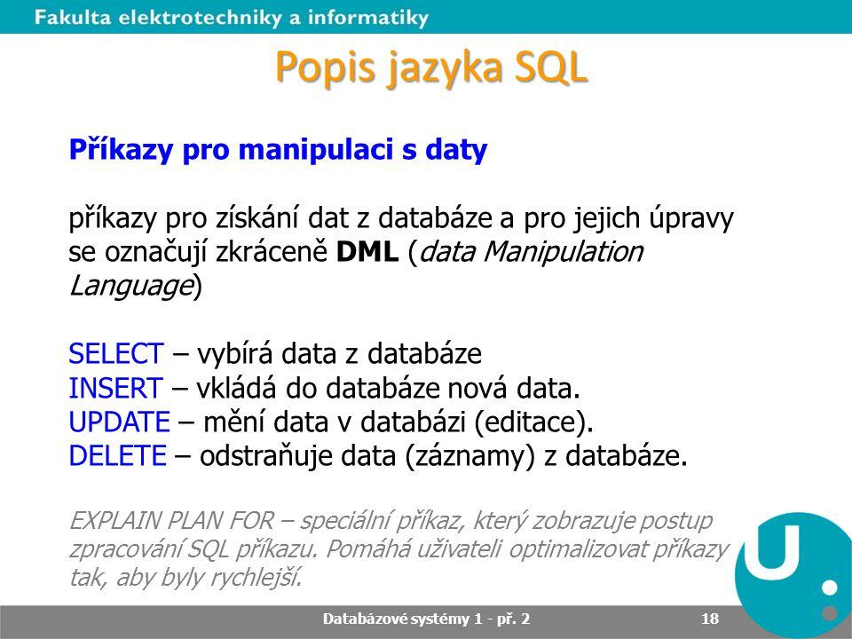 Databázové systémy 1 - př. 2