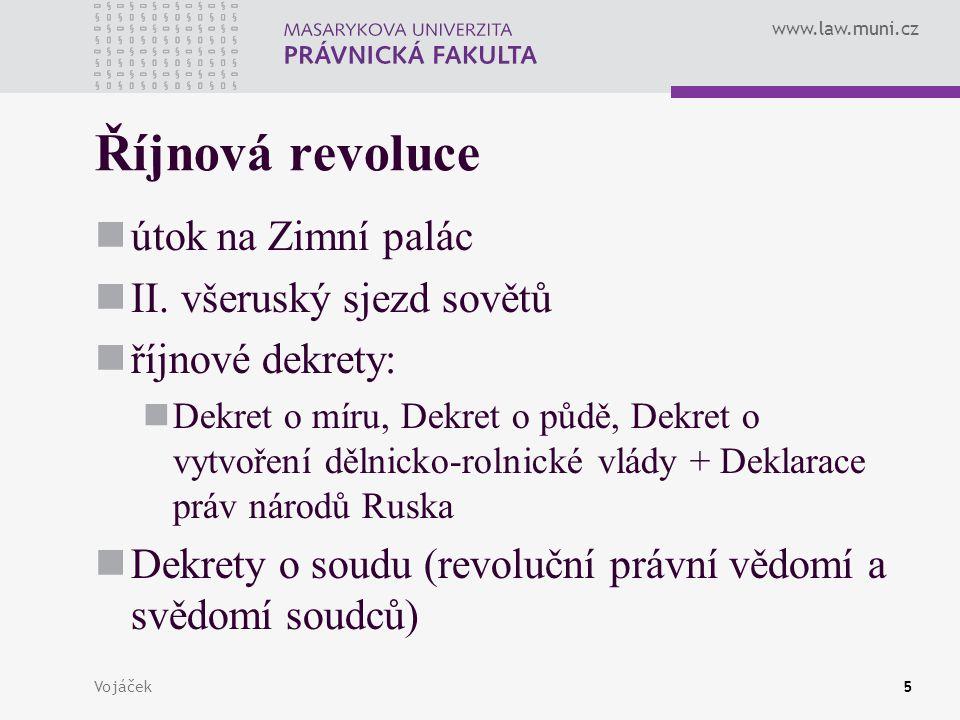 Říjnová revoluce útok na Zimní palác II. všeruský sjezd sovětů