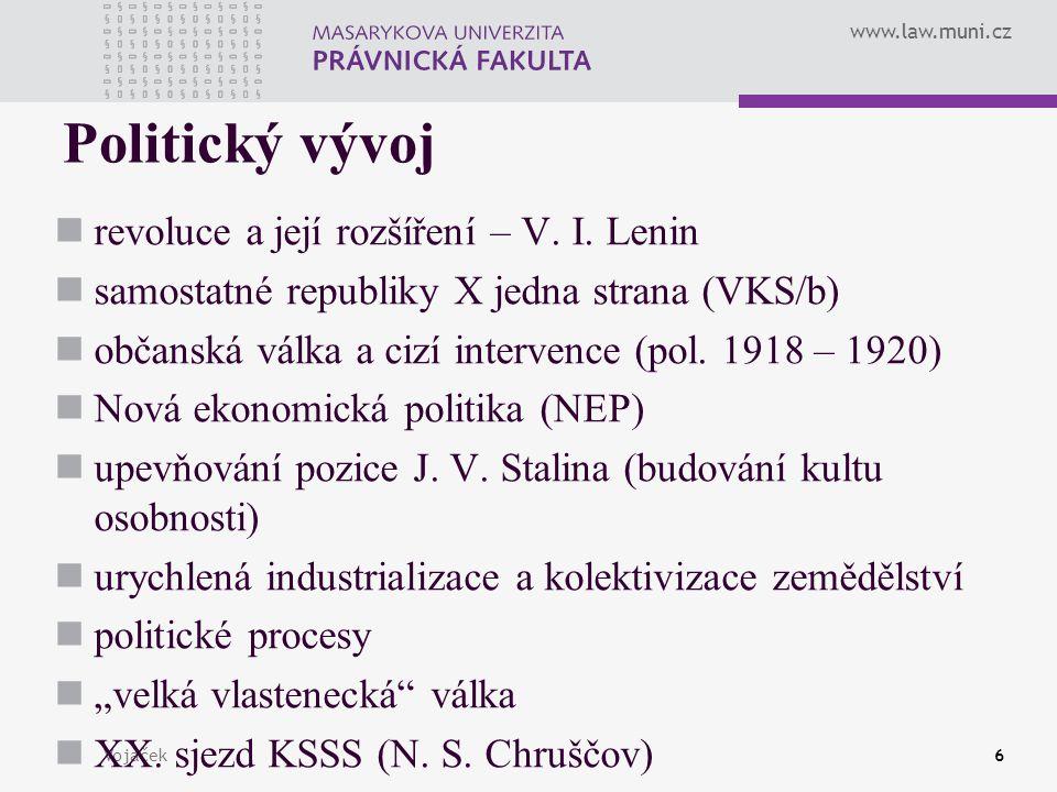 Politický vývoj revoluce a její rozšíření – V. I. Lenin