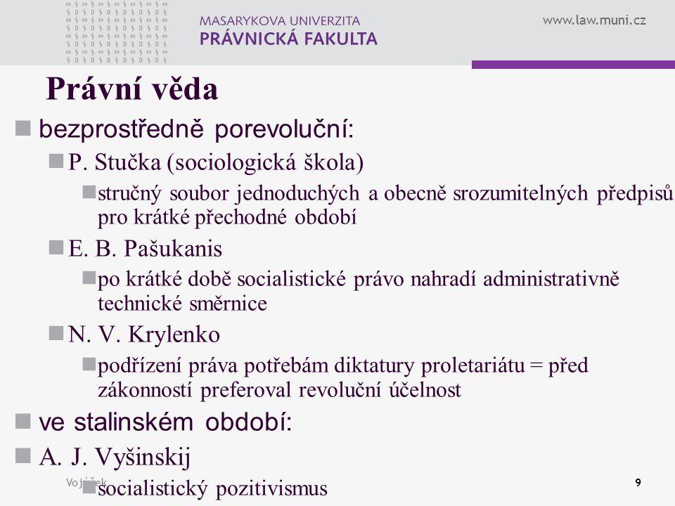 Právní věda bezprostředně porevoluční: ve stalinském období: