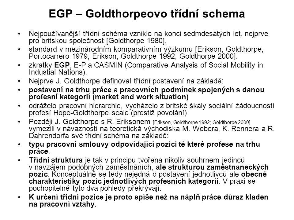 EGP – Goldthorpeovo třídní schema