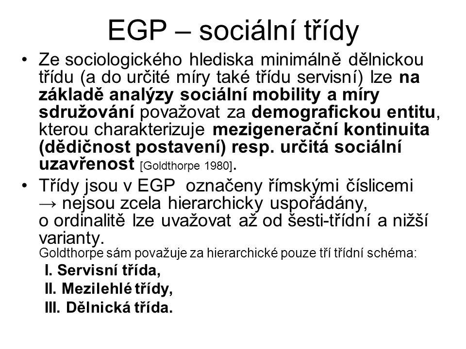 EGP – sociální třídy