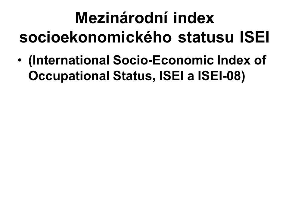 Mezinárodní index socioekonomického statusu ISEI