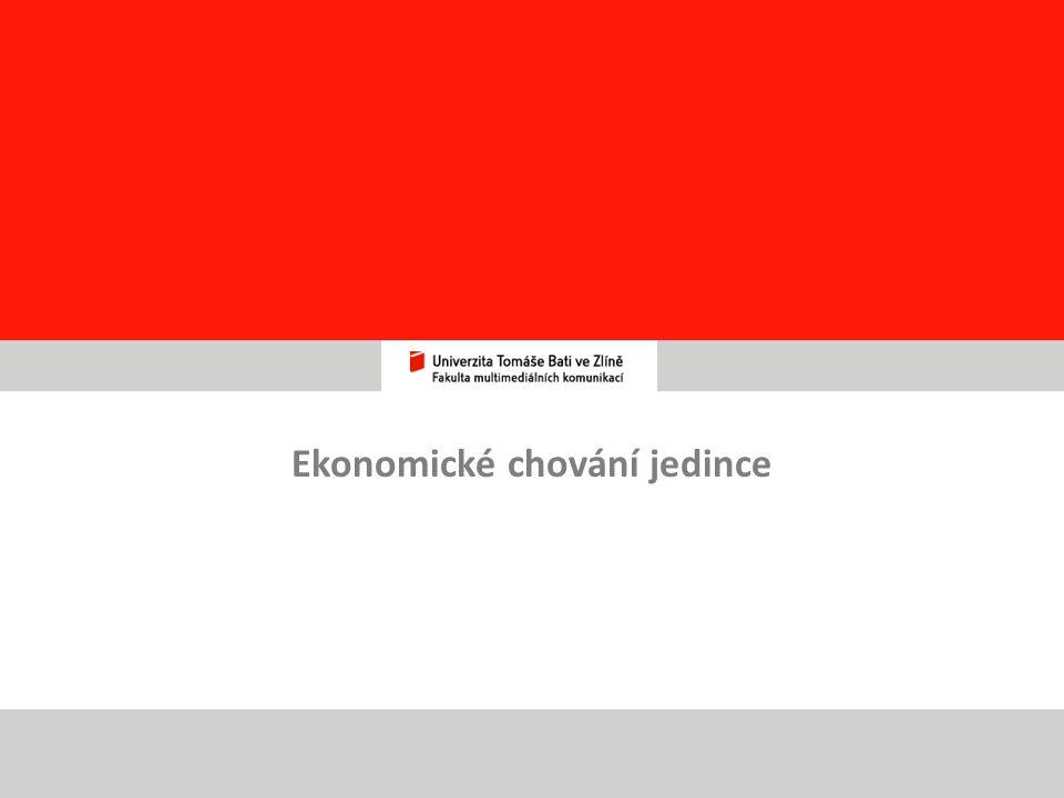 Ekonomické chování jedince