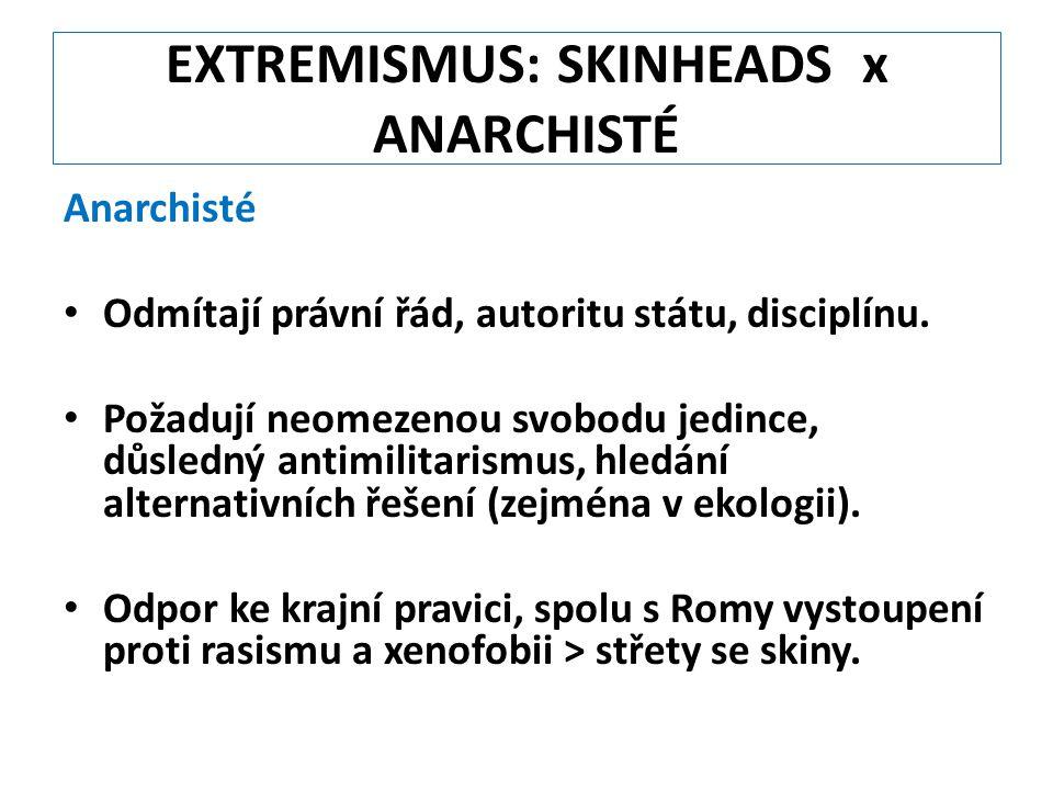 EXTREMISMUS: SKINHEADS x ANARCHISTÉ