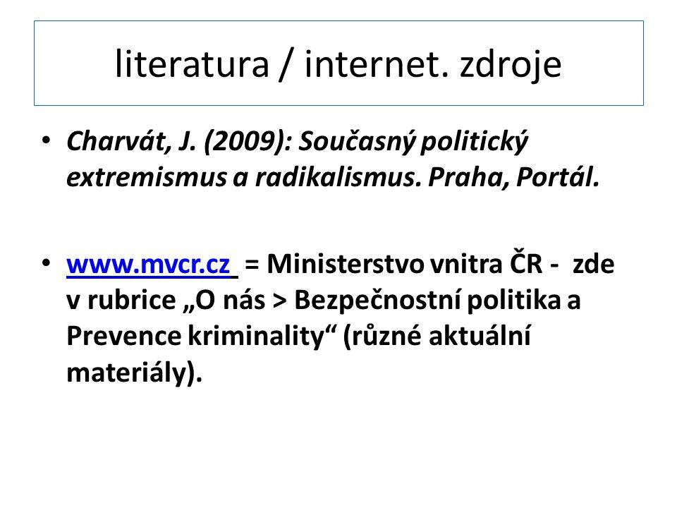 literatura / internet. zdroje