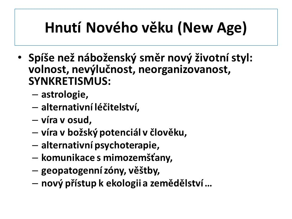 Hnutí Nového věku (New Age)
