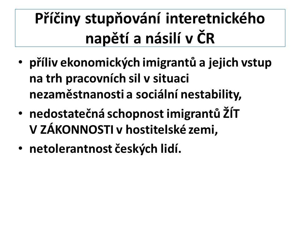Příčiny stupňování interetnického napětí a násilí v ČR