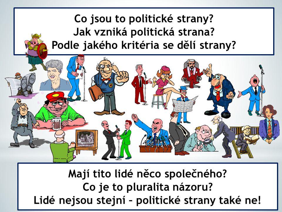 Co jsou to politické strany Jak vzniká politická strana