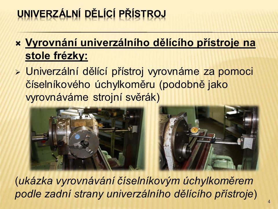 Univerzální dělící přístroj
