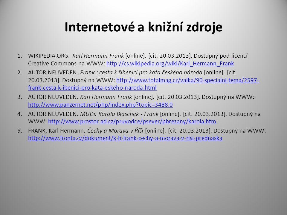 Internetové a knižní zdroje