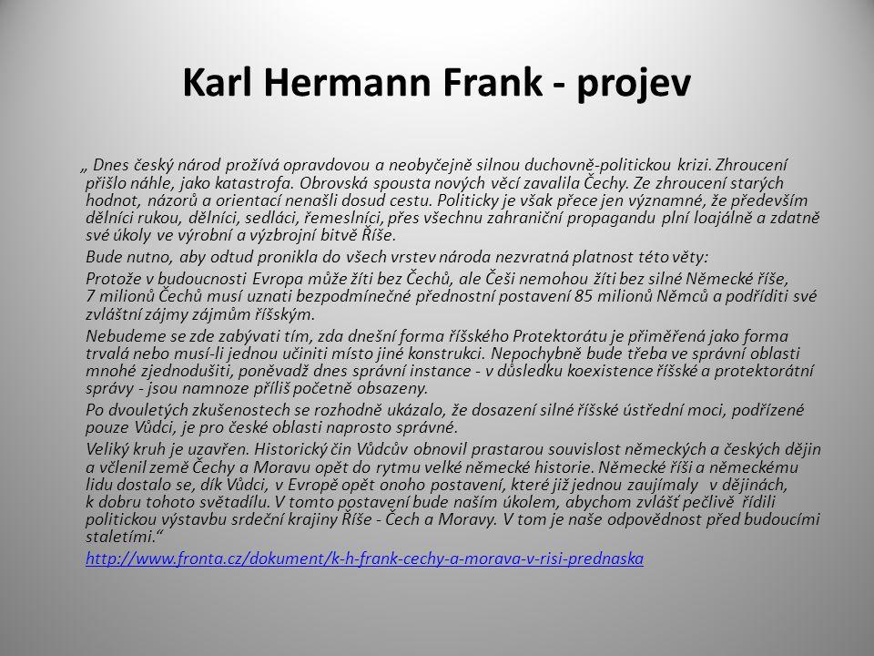 Karl Hermann Frank - projev
