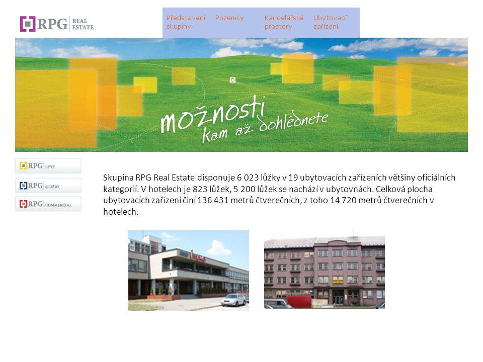 Skupina RPG Real Estate disponuje 6 023 lůžky v 19 ubytovacích zařízeních většiny oficiálních kategorií.