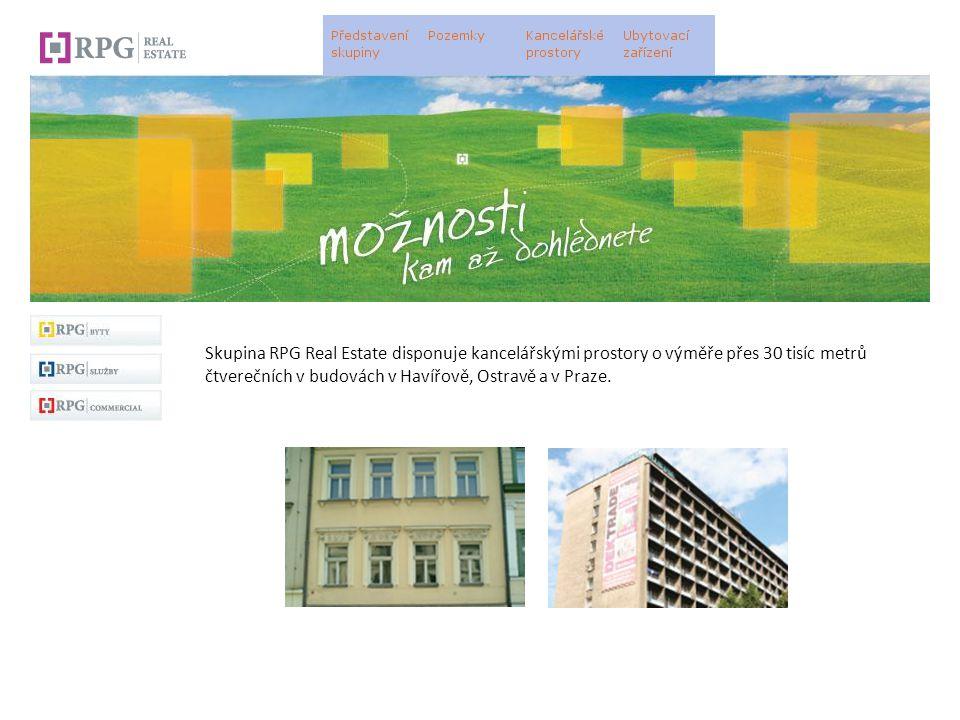 Skupina RPG Real Estate disponuje kancelářskými prostory o výměře přes 30 tisíc metrů čtverečních v budovách v Havířově, Ostravě a v Praze.