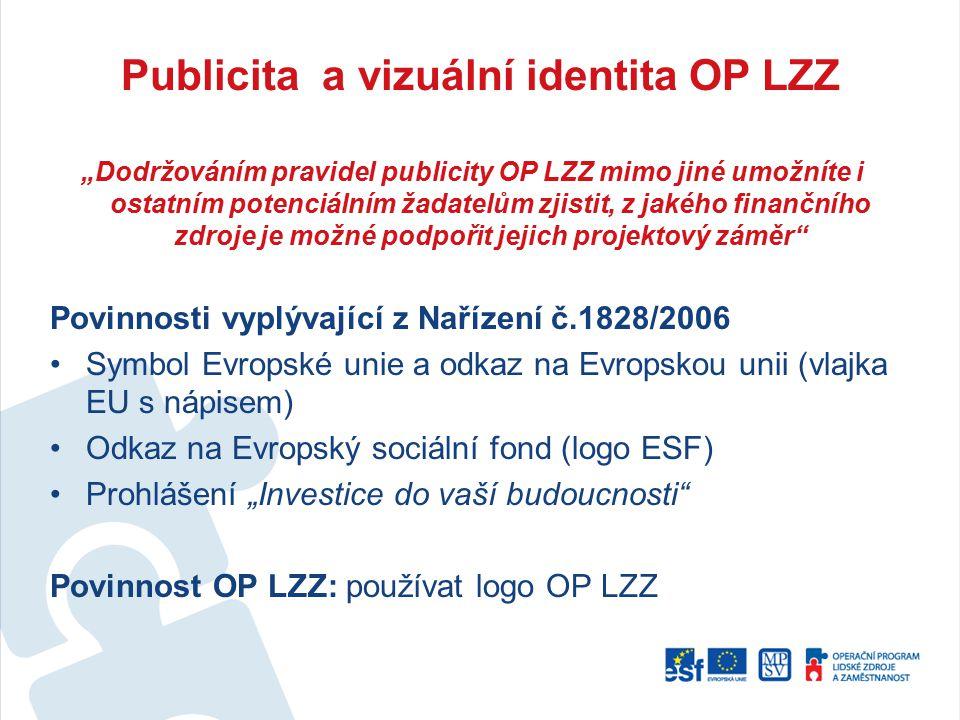 Publicita a vizuální identita OP LZZ