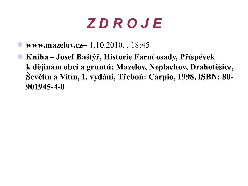 Z D R O J E www.mazelov.cz– 1.10.2010. , 18:45