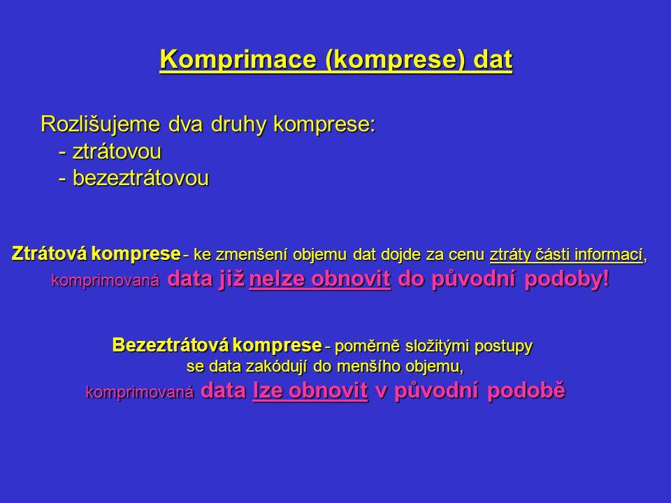 Komprimace (komprese) dat