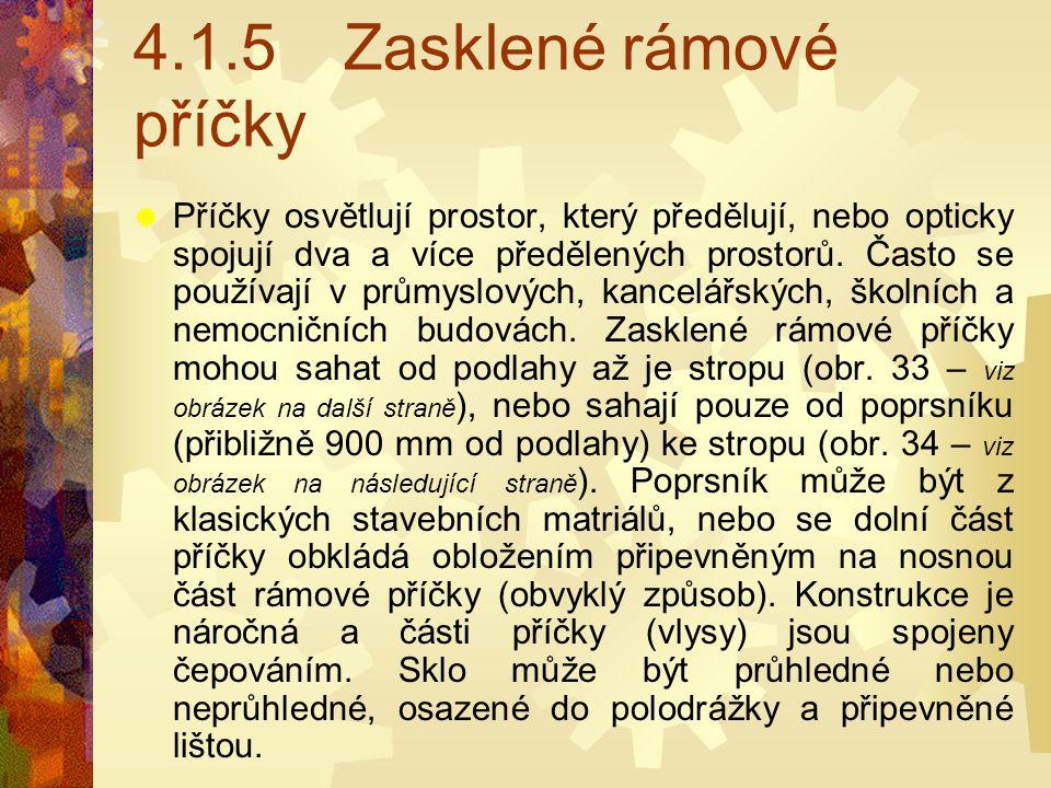 4.1.5 Zasklené rámové příčky