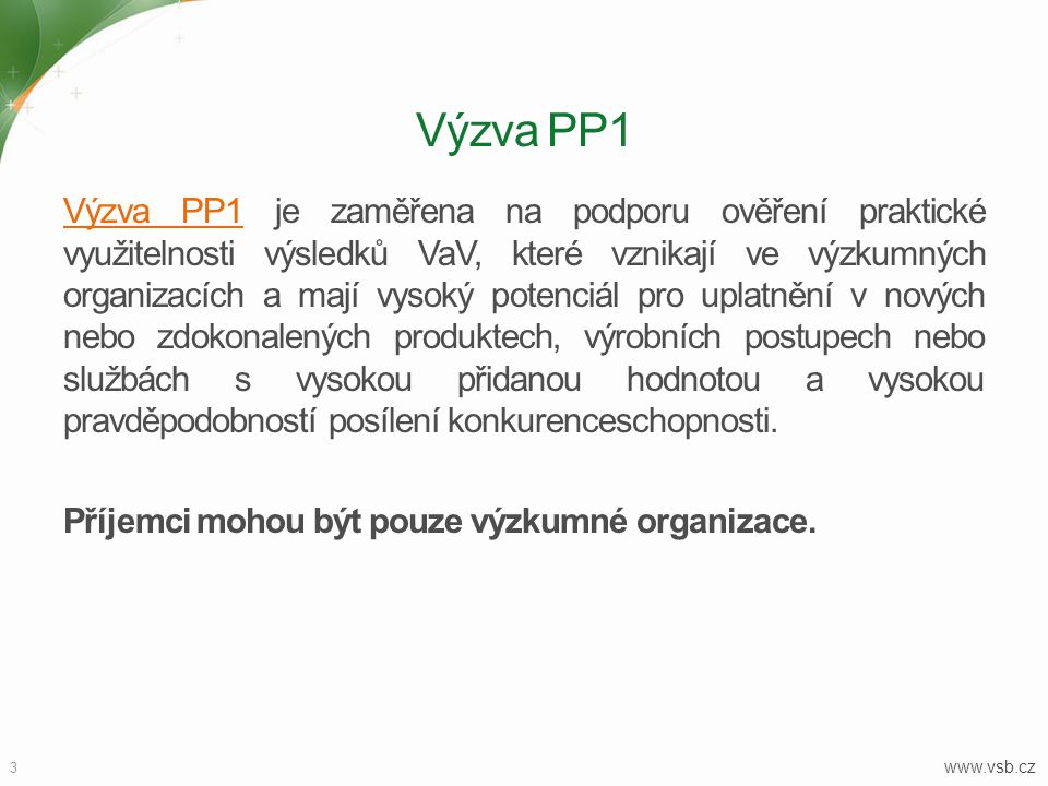 Výzva PP1
