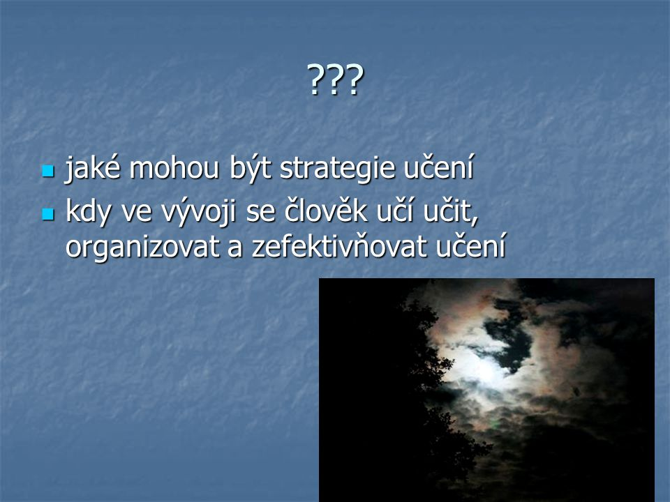 jaké mohou být strategie učení