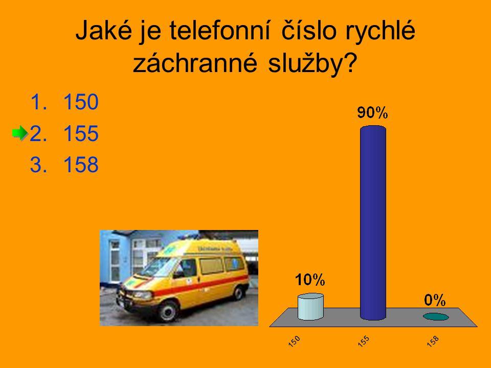 Jaké je telefonní číslo rychlé záchranné služby