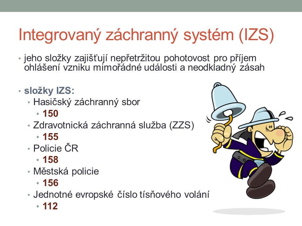 Integrovaný záchranný systém (IZS)