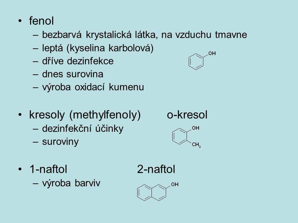 kresoly (methylfenoly) o-kresol