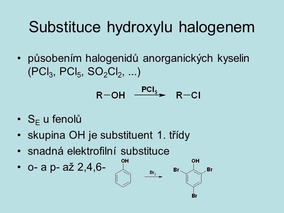 Substituce hydroxylu halogenem