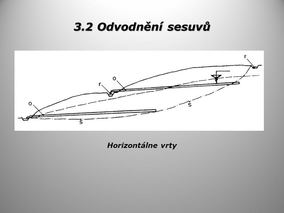 3.2 Odvodnění sesuvů Horizontálne vrty
