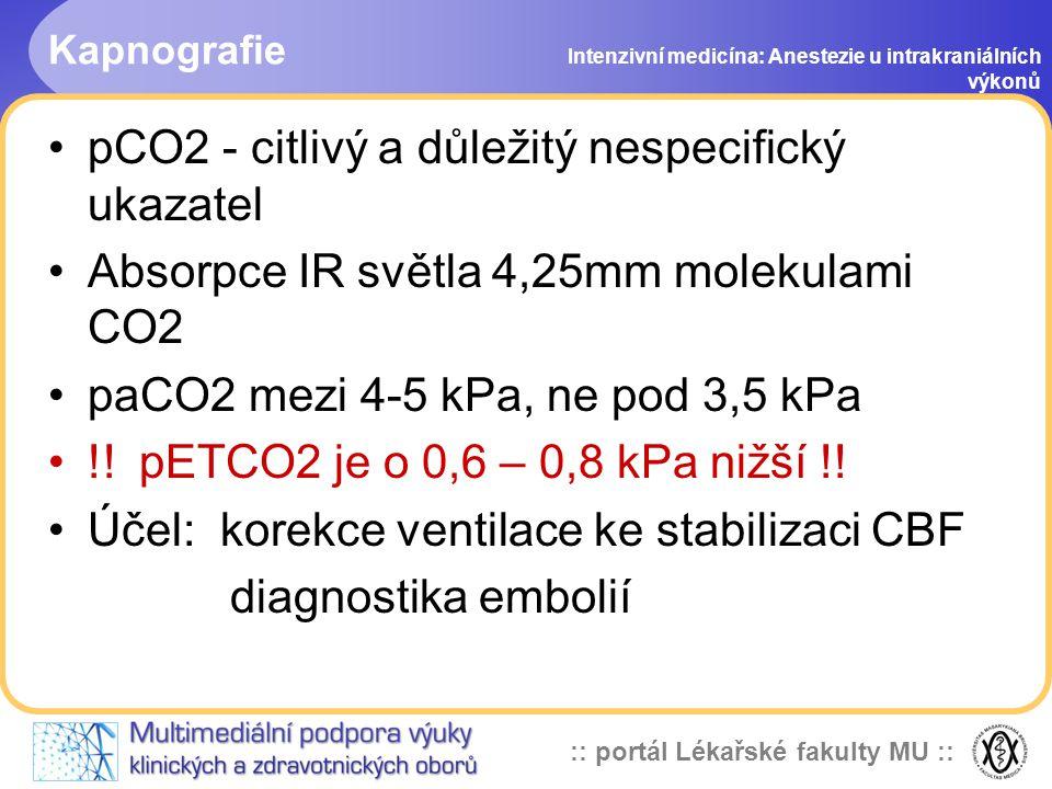 pCO2 - citlivý a důležitý nespecifický ukazatel