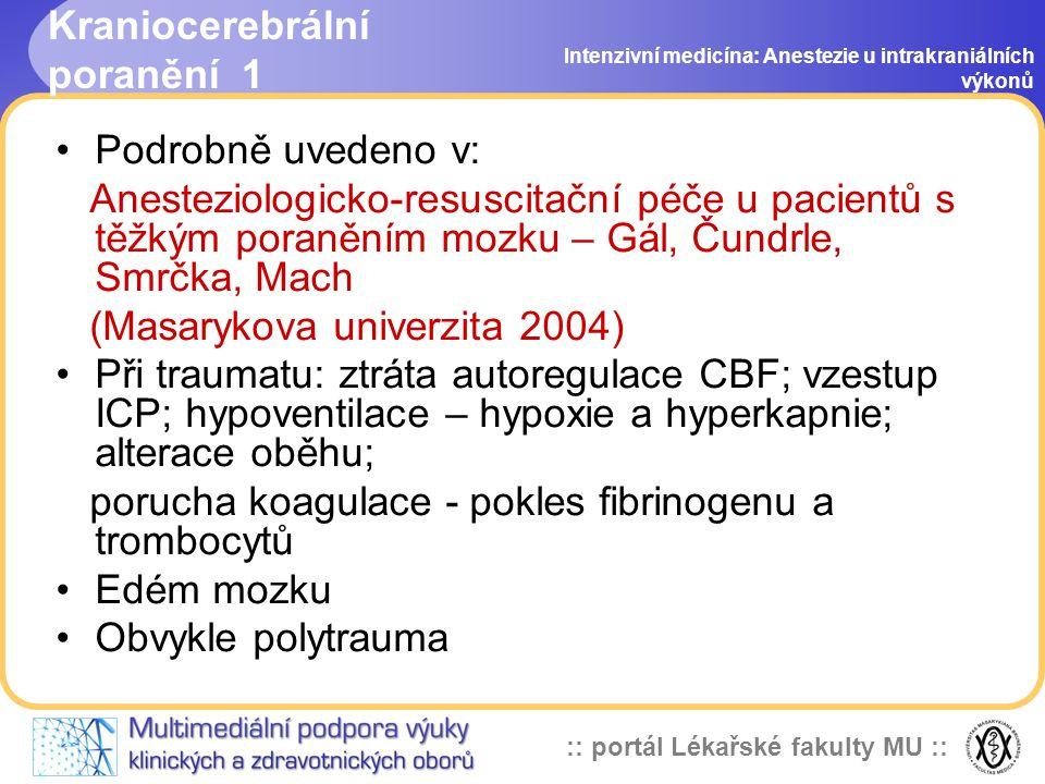 Kraniocerebrální poranění 1