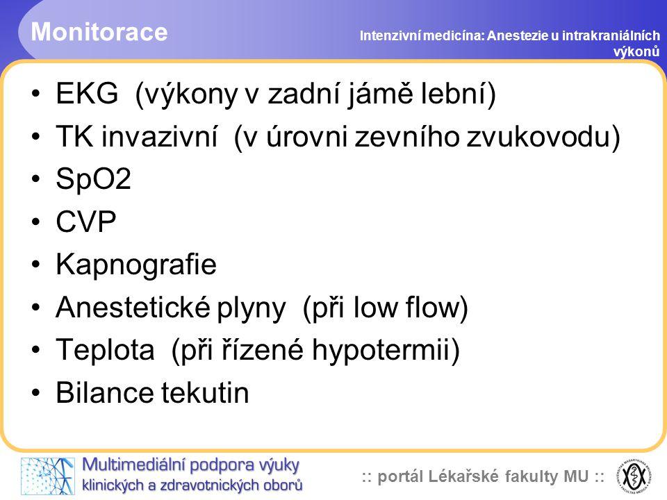 EKG (výkony v zadní jámě lební)
