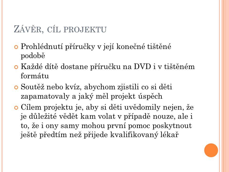 Závěr, cíl projektu Prohlédnutí příručky v její konečné tištěné podobě