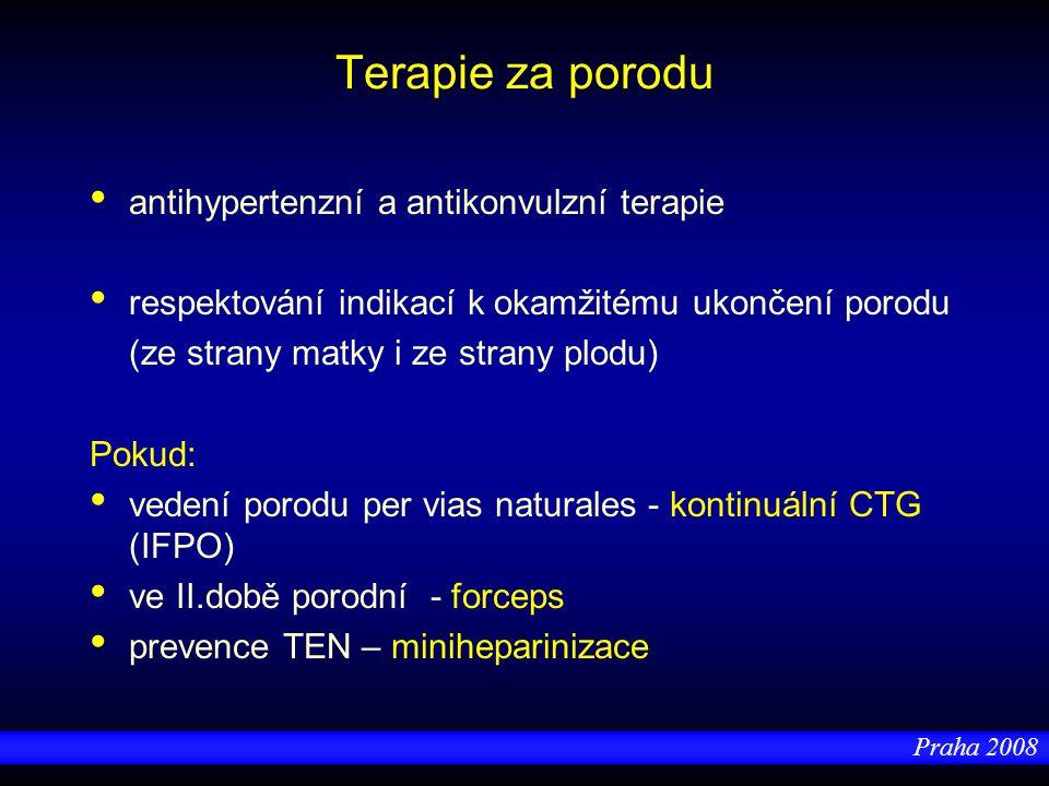 Terapie za porodu antihypertenzní a antikonvulzní terapie