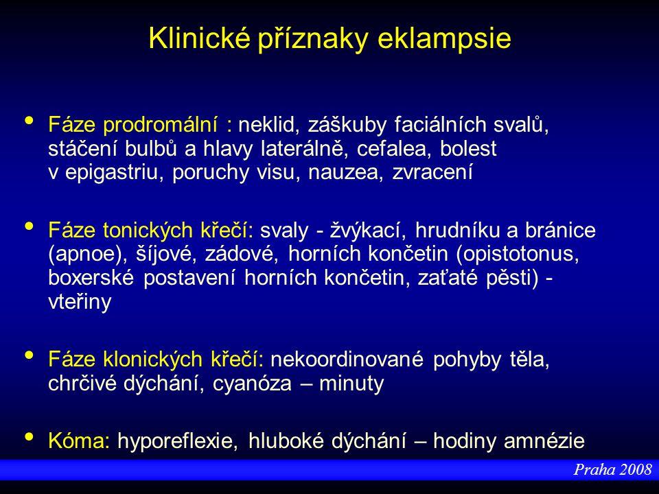 Klinické příznaky eklampsie