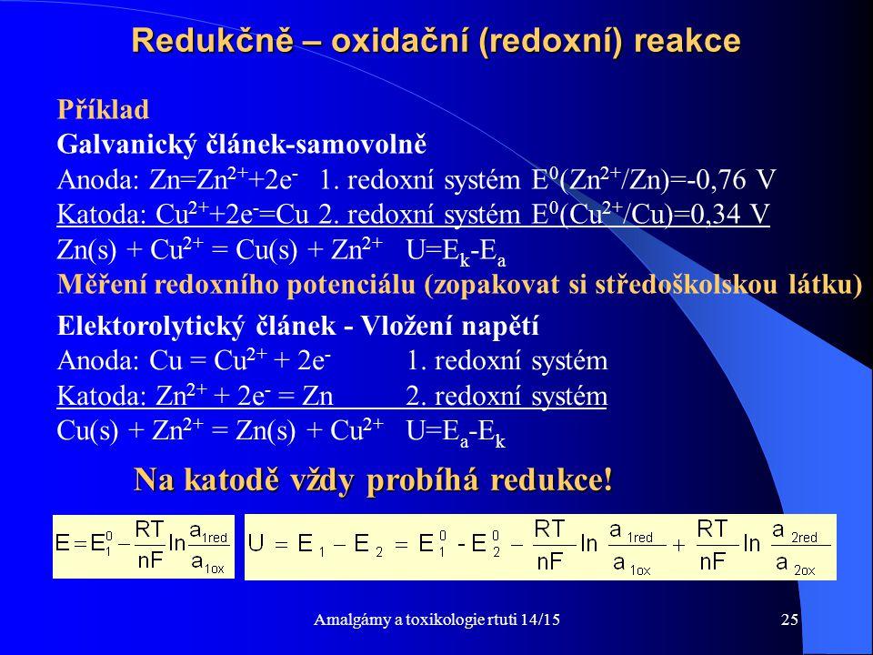 Redukčně – oxidační (redoxní) reakce