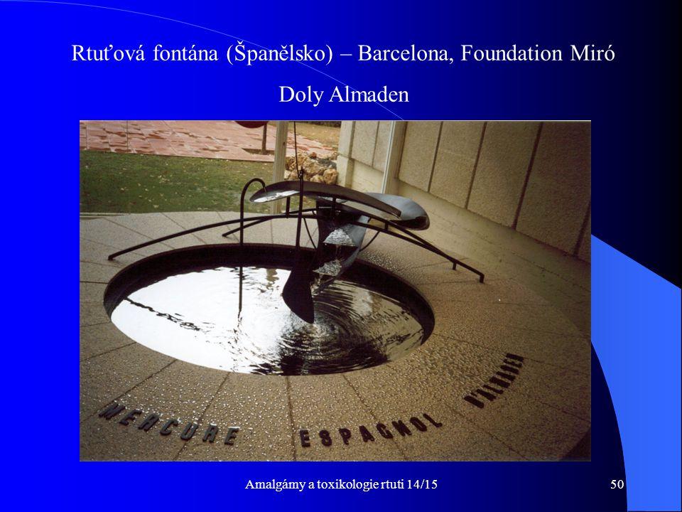 Rtuťová fontána (Španělsko) – Barcelona, Foundation Miró Doly Almaden