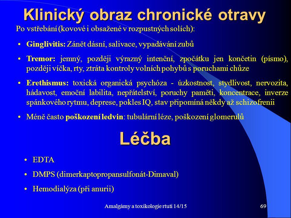 Klinický obraz chronické otravy