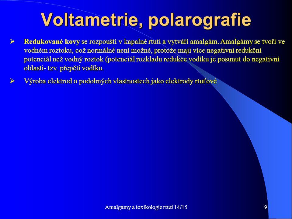 Voltametrie, polarografie