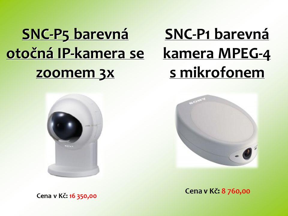 SNC-P5 barevná otočná IP-kamera se zoomem 3x