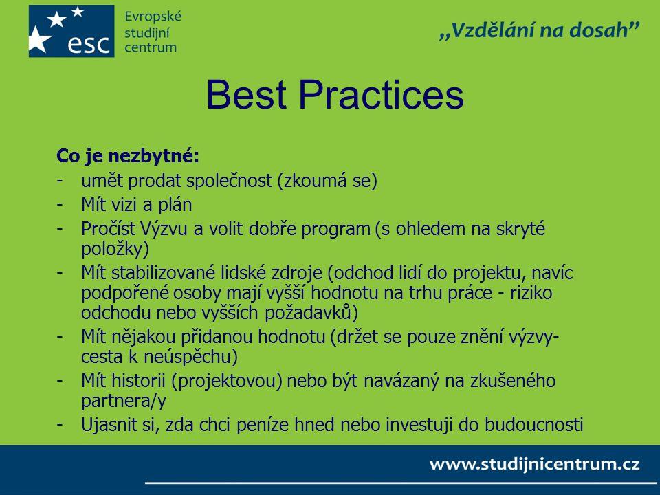 Best Practices Co je nezbytné: umět prodat společnost (zkoumá se)