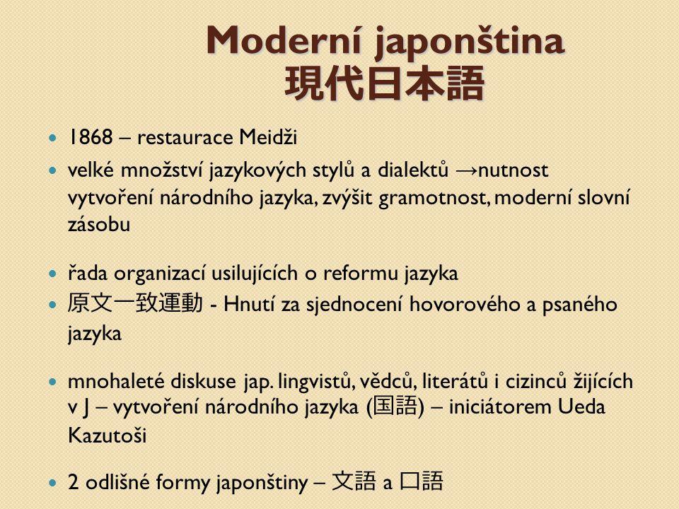 Moderní japonština 現代日本語