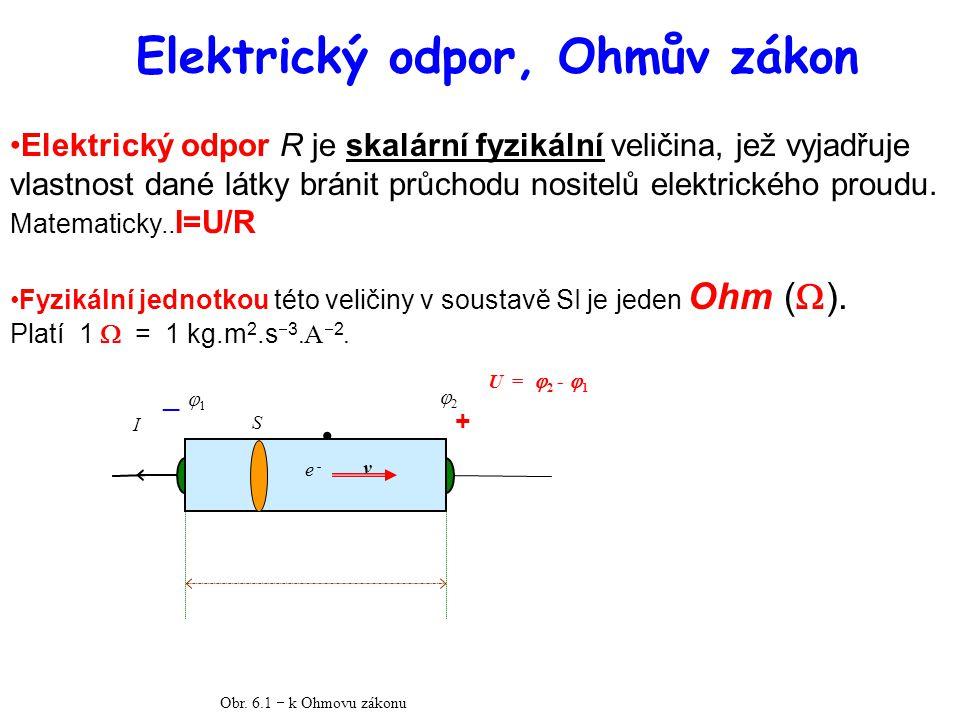 Elektrický odpor, Ohmův zákon